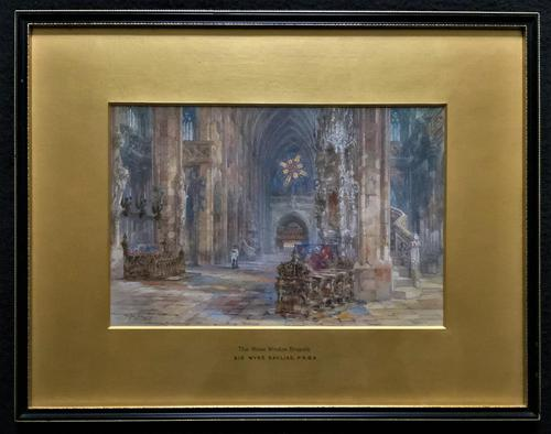 Sir Wyke Bayliss PRBA HRMS Rose Window Brussels Watercolour Painting (1 of 16)
