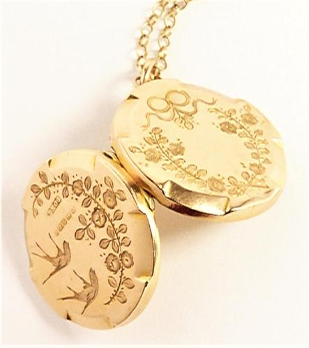 Antique Fully Hallmarked 9ct Rose Gold Locket Necklace (1 of 10)