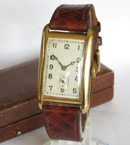 Gents 9ct Gold Rotary Wrist Watch, 1930 (1 of 6)