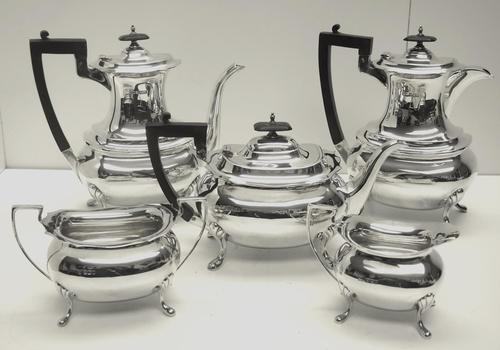 Impressive 5 Piece Silver Tea & Coffee Set Walker & Hall Sheffield 1917 (1 of 17)