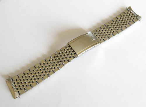Gents Omega Stainless Steel Beads of Rice Bracelet (1 of 4)