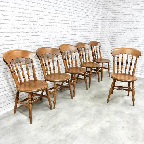 Set of 6 Penny Seat Windsor Kitchen / Dining Chairs (1 of 8)