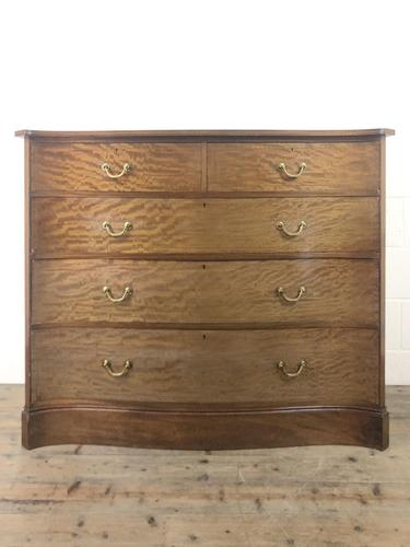 Edwardian Inlaid Mahogany Serpentine Chest of Drawers by Waring (M-1489) (1 of 16)