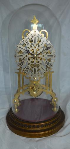 Victorian Skeleton Clock & Dome (1 of 4)
