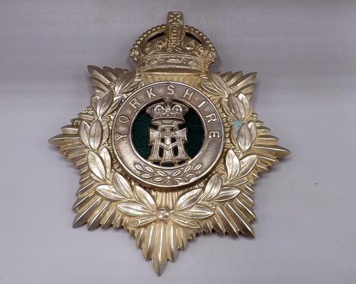 Other Ranks Helmet Plate - 1902-1914 - Alexandra Princess of Wales Own 'Yorkshire Regiment' (1 of 5)