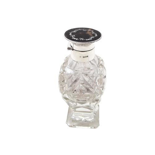 Antique Sterling Silver, Cut Glass & Inlaid Tortoiseshell Perfume Bottle 1912 (1 of 9)