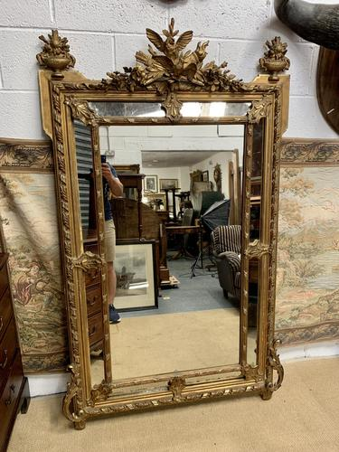 Large 19th Century French Gilt Mirror (1 of 8)