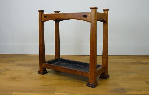 Excellent Arts & Crafts Oak Stick Stand c.1910 (1 of 11)