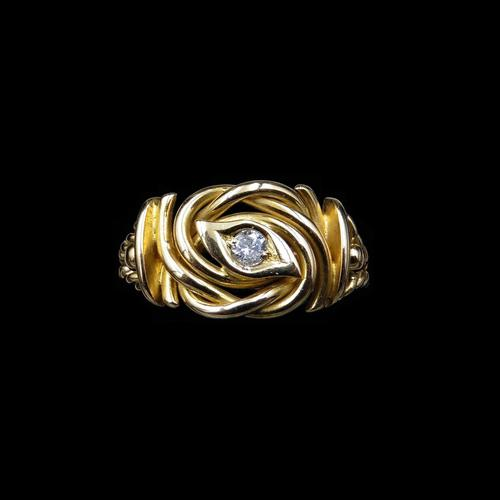 Antique Diamond Lovers Knot 18ct Gold Ring (1 of 7)