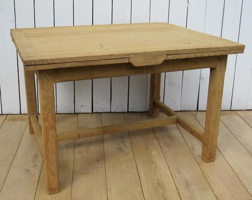 Antique Bleached Oak Extending Dining Table (1 of 10)