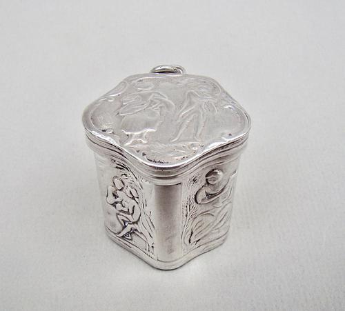 18th Century Dutch Silver Peppermint Box c.1780 (1 of 8)