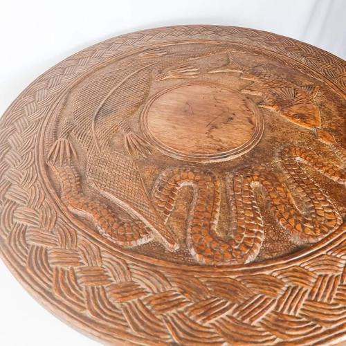 Carved Nigerian African Vintage Table (1 of 11)