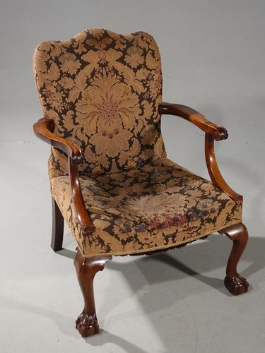 Substantial Early 20th Century  Gainsborough Style Mahogany Framed Armchair (1 of 6)