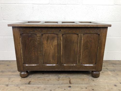 Vintage Oak Panel Blanket Box or Coffer Chest (1 of 15)