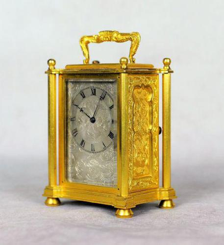 English Fusee Carriage Clock - James Voak of London (1 of 6)