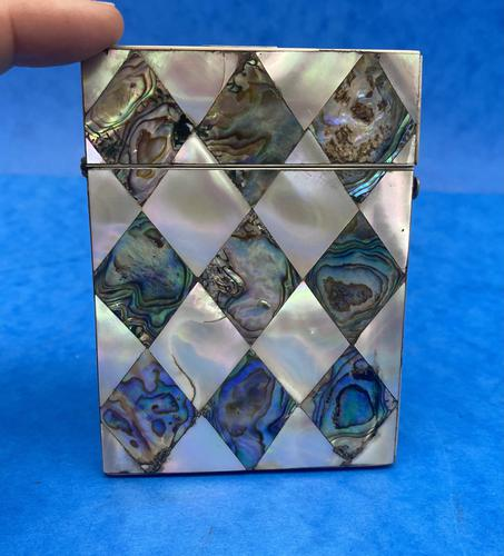Victorian Mother of Pearl & Abalone Card Case (1 of 11)
