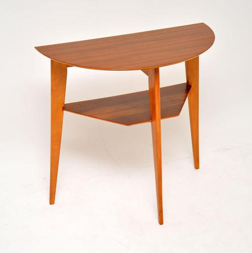 1960's Vintage Walnut Console Table by H. Shaw (1 of 10)