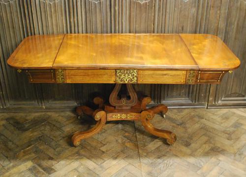Regency Rosewood Sofa Table (1 of 9)