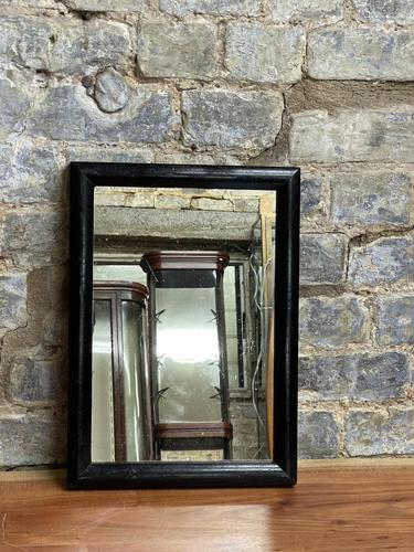 1920s Black Frame Mirror (1 of 1)