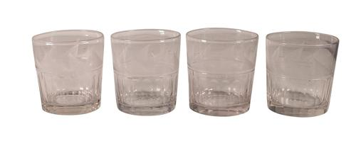Four Etched Tumblers (1 of 4)