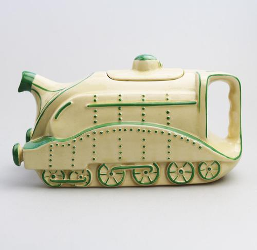 Extremely Rare Art Deco Sadler Mallard Train Pottery Teapot c.1930 (1 of 12)
