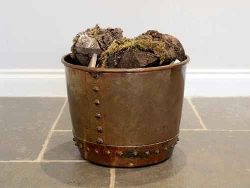 Late 19th Century Riveted Copper Log Bin (1 of 6)