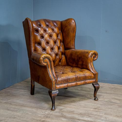 Wingback Leather Armchair (1 of 12)