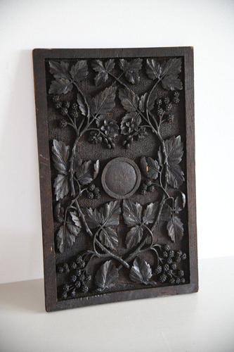 Carved Oak Panel Vines (1 of 9)