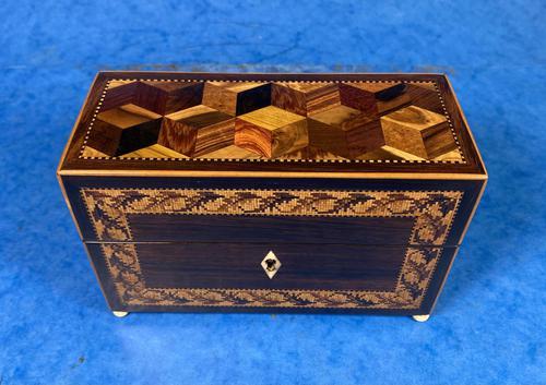 Victorian Rosewood & Tunbridge Ware Inlaid Scent Box (1 of 6)