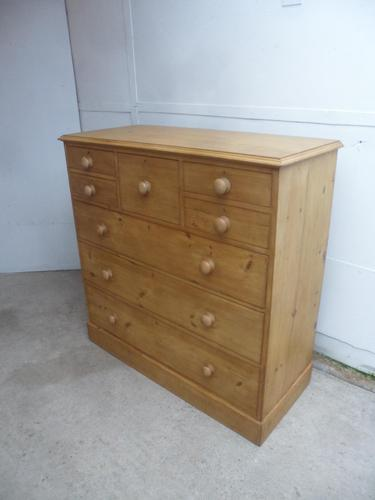 Lovely Waxed Early Victorian Antique Pine 8 Drawer Chest of Drawers (1 of 12)