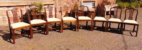 Set of 8 Hepplewhite Style Mahogany Dining Chairs (1 of 12)