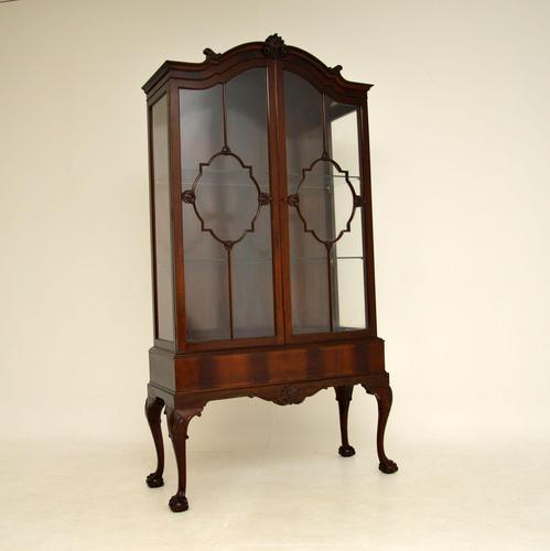 Antique Victorian  Mahogany Display Cabinet (1 of 11)