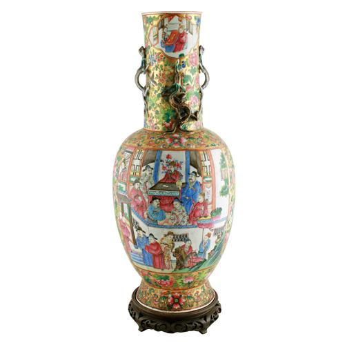 19th Century Chinese Canton Vase (1 of 8)