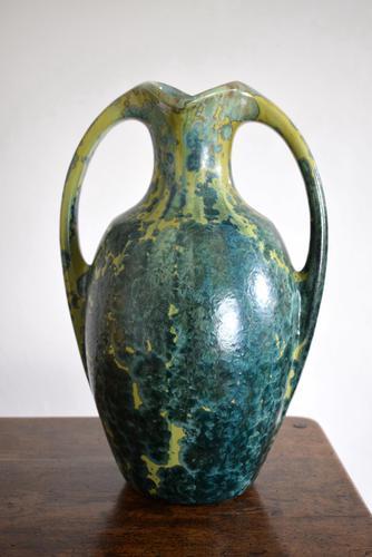 Large Art Nouveau Pierrefonds Crystalline Statement Vase (1 of 11)
