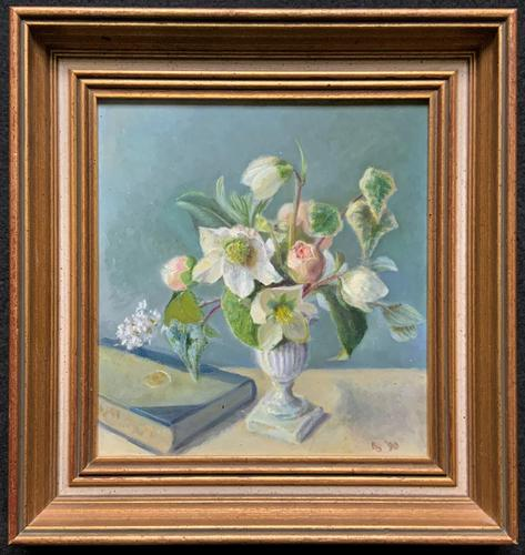 Fabulous Original 20th Century Floral Still Life Study Oil on Board Painting (1 of 11)