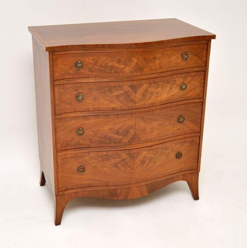 Antique Georgian Style Flame Mahogany Chest of Drawers (1 of 10)