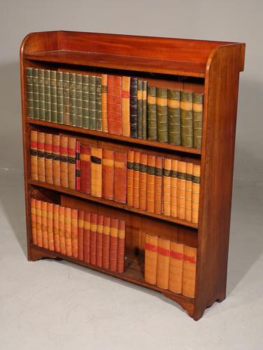 Edwardian Period Mahogany Open Bookcase (1 of 4)