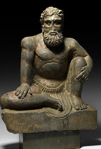 Fine Gandharan Crouching Atlas Figure (2nd-3rd Century AD) (1 of 4)