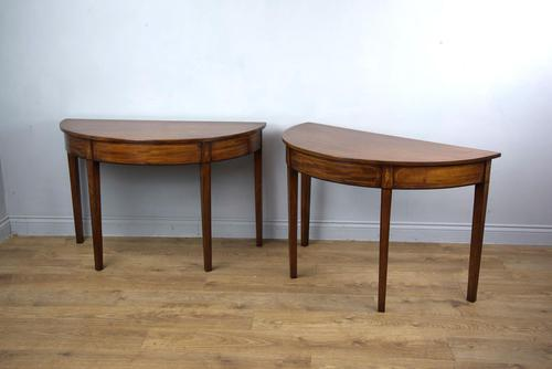 Stunning Pair of Georgian Mahogany Console Tables (1 of 3)