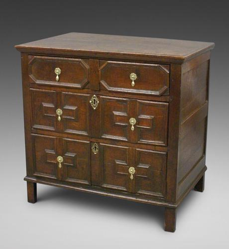 17th Century Oak Chest of Small Proportions (1 of 6)