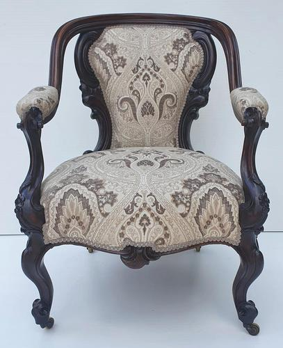 19th Century Rosewood Armchair (1 of 4)