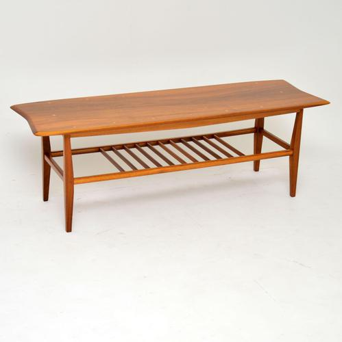 1960's Vintage Inlaid Walnut Coffee Table (1 of 9)