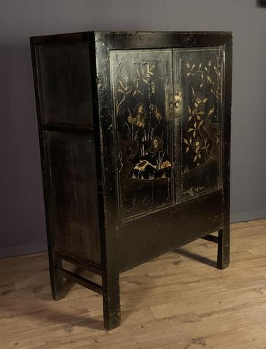Lacquered hand painted provincial Chinese wedding cabinet (1 of 7)