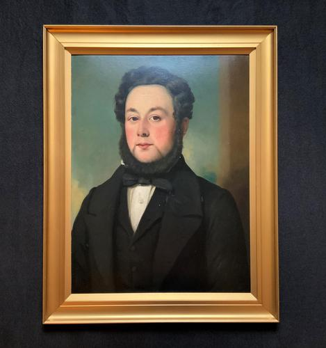 Lovely 19th Century Victorian Antique Half-Length Oil Portrait Painting of a Smart Chap (1 of 12)