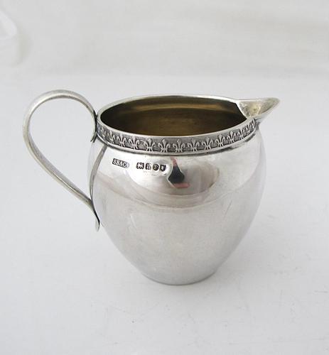 Quality Hanau Silver Cream Jug, London Import Marks for 1903 (1 of 6)