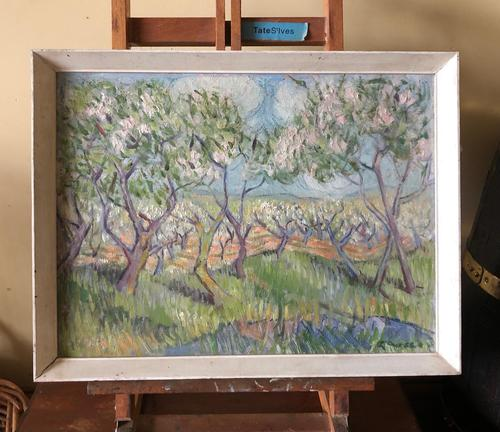Impressionist Artist Gaussen - Oil on Board - Olive Trees c.1945 (1 of 9)