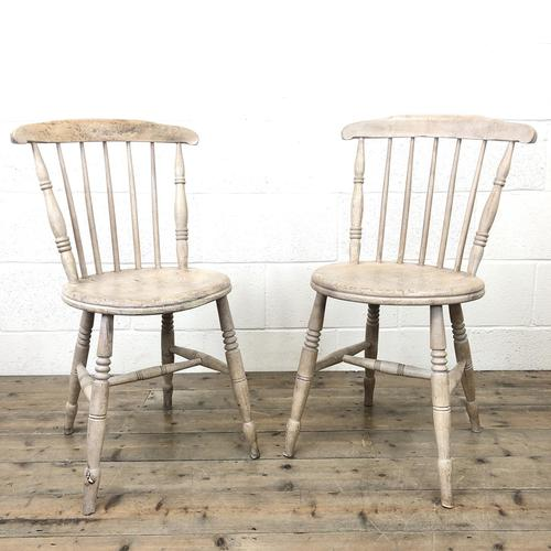 Pair of Rustic Antique Penny Chairs (1 of 9)