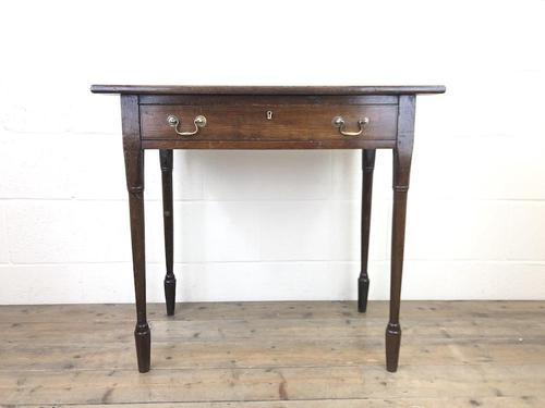 Antique 19th Century Oak Side Table (1 of 12)