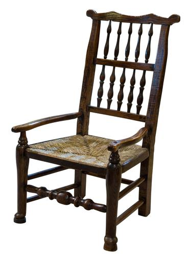 """19th Century Lancashire """"Wheatear"""" Spindleback Low Armchair (1 of 5)"""