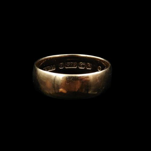 Antique Edwardian 9ct 9K Rose Gold Plain Stacking Wedding Band Ring (1 of 8)